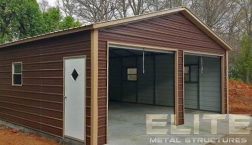 24x26-Earth-Brown-Metal-Garage