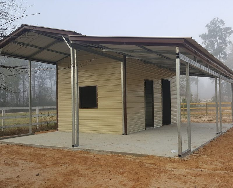 27 partially enclosed carport with lean to elite metal for Lean to addition to garage