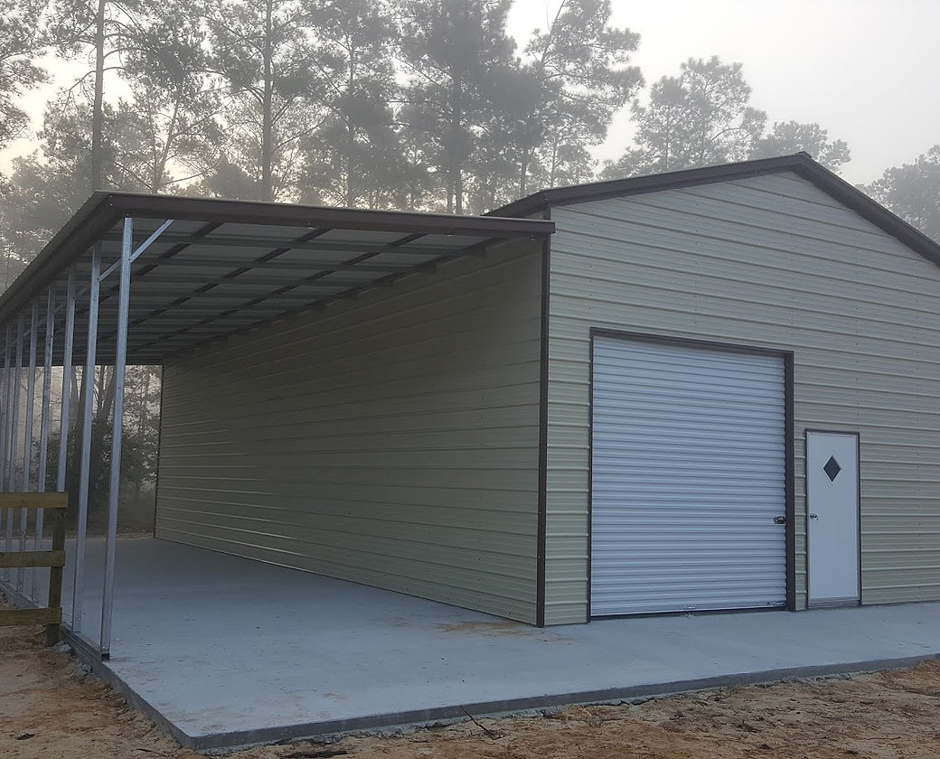 93 Metal Garage With Lean To General Steel Garage