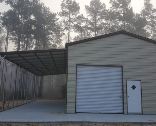 20 44 39 wx41 39 lx14 39 11 39 h barn w 2 lean to 39 s elite metal for Lean to addition to garage