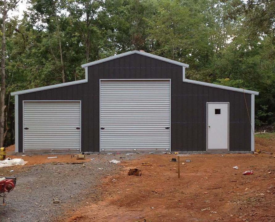 505 barn with vertical roof elite metal structures for Metal barn pictures