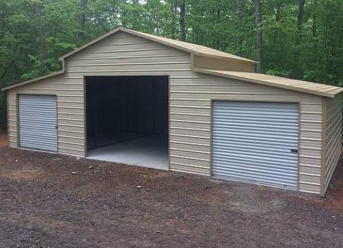 garage car shelters two carport parking commercial metal garages