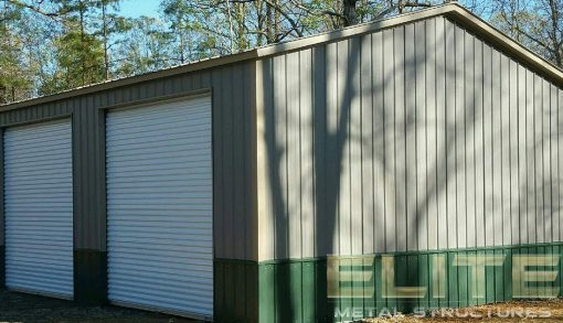 All-Vertical-Metal-Garage-Building-Side-Entry-with-Color-Match