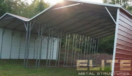Double-Metal-Carport-With-Side-Connection
