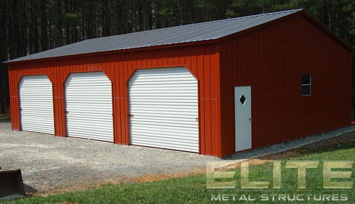 30 Wx46 Lx10 H Steel Garage Building Side Entry Elite