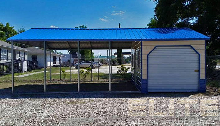 20'Wx31'Lx9'H Vertical Roof Utility Carport - Elite Metal ...
