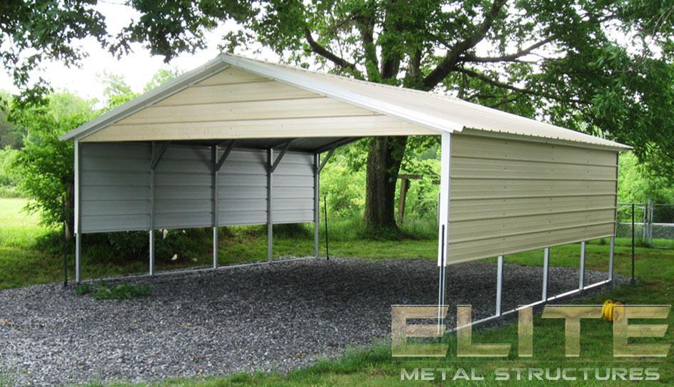 18 Wx21 Lx8 H Vertical Roof Metal Carport Elite Metal