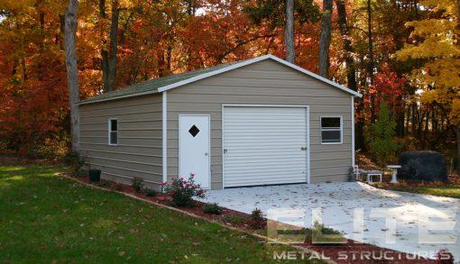 Metal-Garage-20x26x9-Boxed-Eave-Storage Building