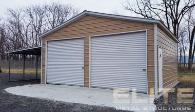 24x31x11-Vertical-Roof-Garage-with-Lean-To